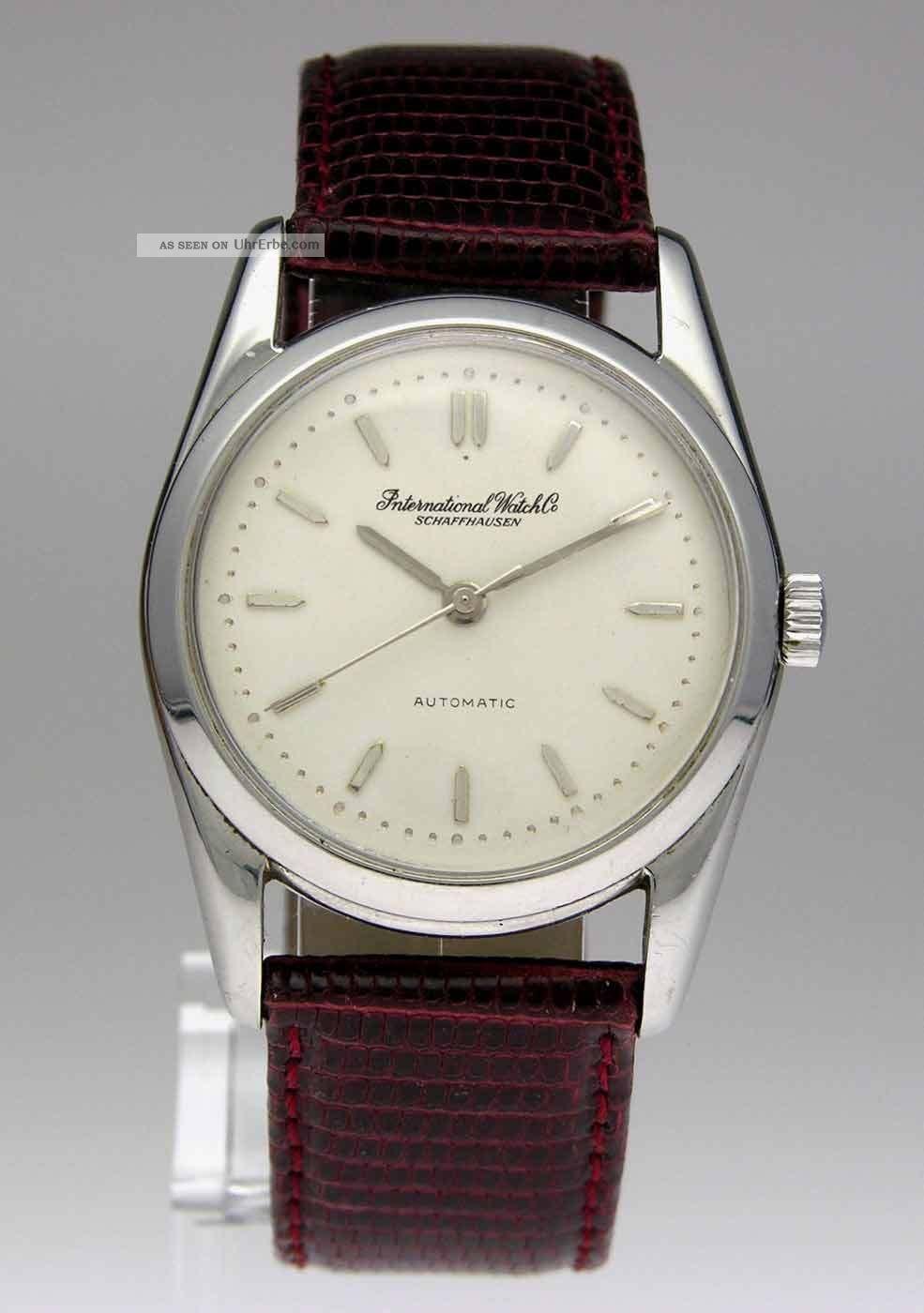 Iwc International Watch Co Schaffhausen Automatic Stahl Herren Uhr Armbanduhren Bild