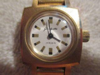 Auflösung Von Opas Private Uhrensammlung Nr 74 Glashütte 17 Rubis Vergoldet Bild