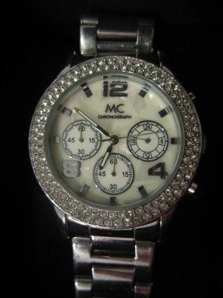 Funkelnder Mc Chronograph,  Uhr Mit Glitzersteinen Für Damen Bild
