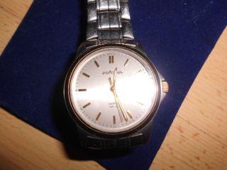 Sehr Gut Erhaltene Uhr,  Silberfarben,  Gliederband,  Wasserresistant Datumanzeige Bild