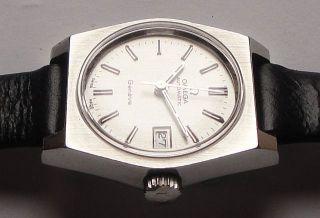 Damen Automatic Armbanduhr Omega Genéve – In Edelstahl - Cal.  684 – Mit Datum Bild