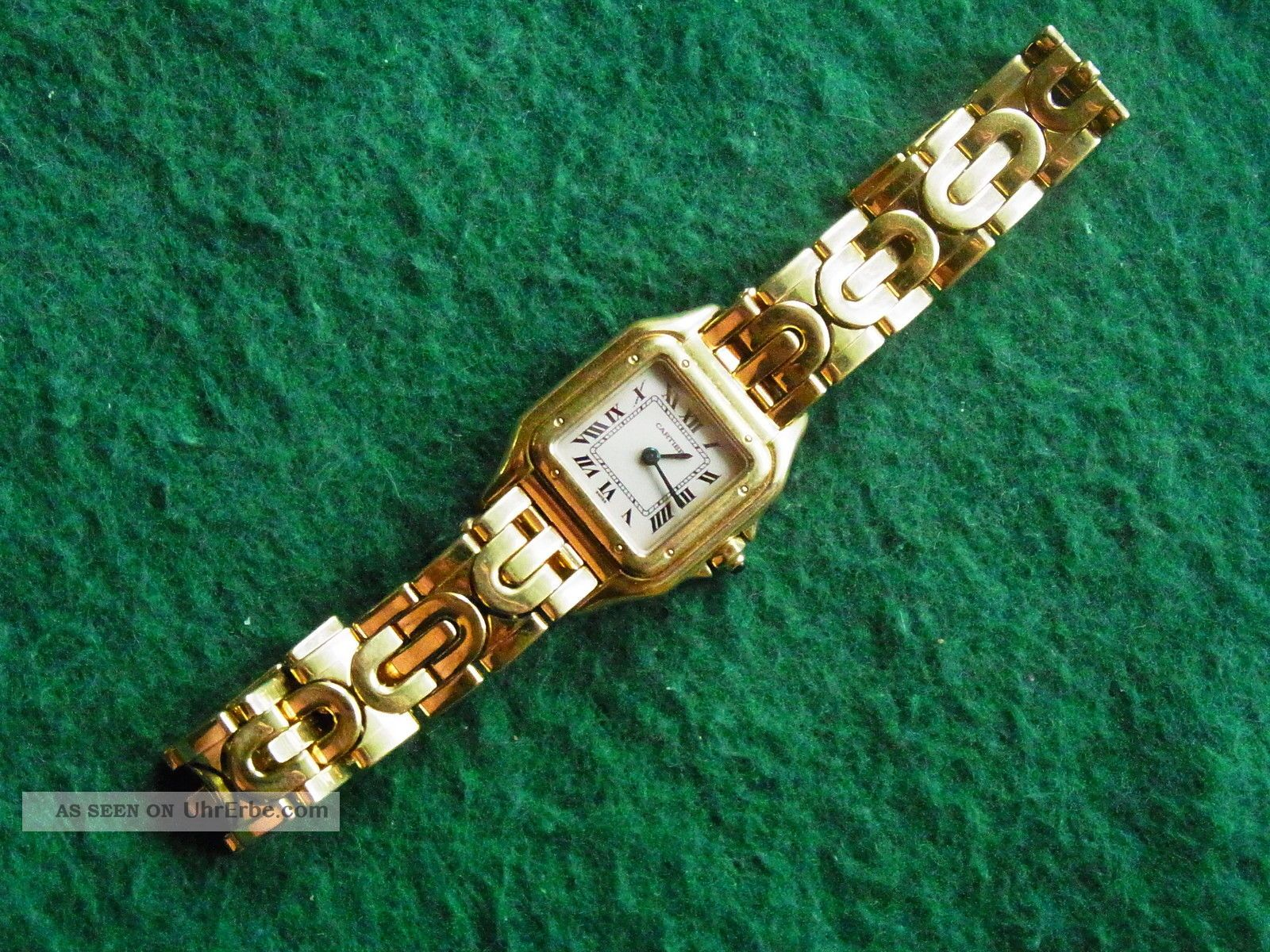 Cartier Lady 18k Gold Panthere Damenuhr Goldband Top Armbanduhren Bild