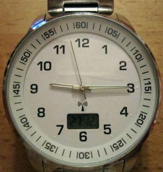 Elegante Armbanduhr - Edelstahl - Herren - - Funkuhr Batterie Bild