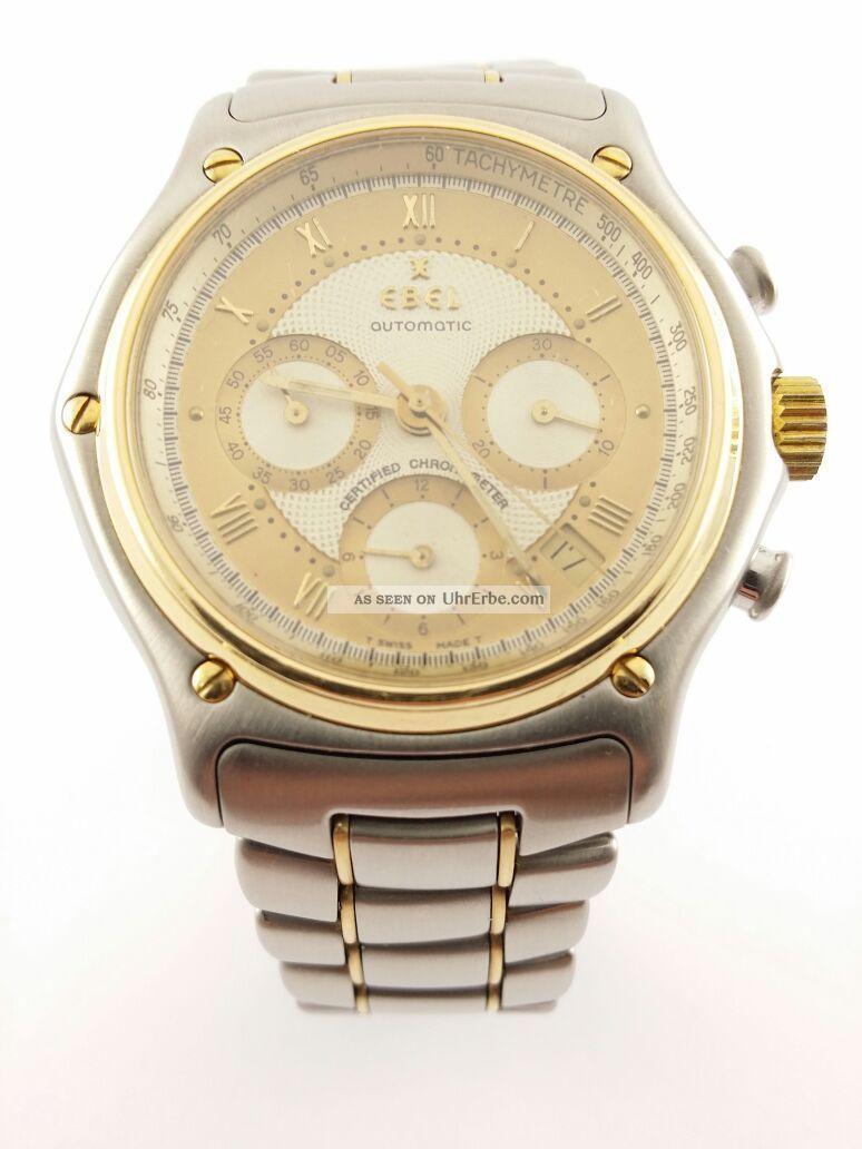Ebel - Le Modulor - Automatik - Gelbgold/stahl - Chronograph - Chronometer - Uhr Armbanduhren Bild
