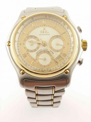 Ebel - Le Modulor - Automatik - Gelbgold/stahl - Chronograph - Chronometer - Uhr Bild