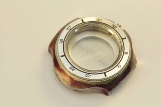 Nos Omega Geneve Watch Case Rotating Bezel With Crystal 166.  121 Bild