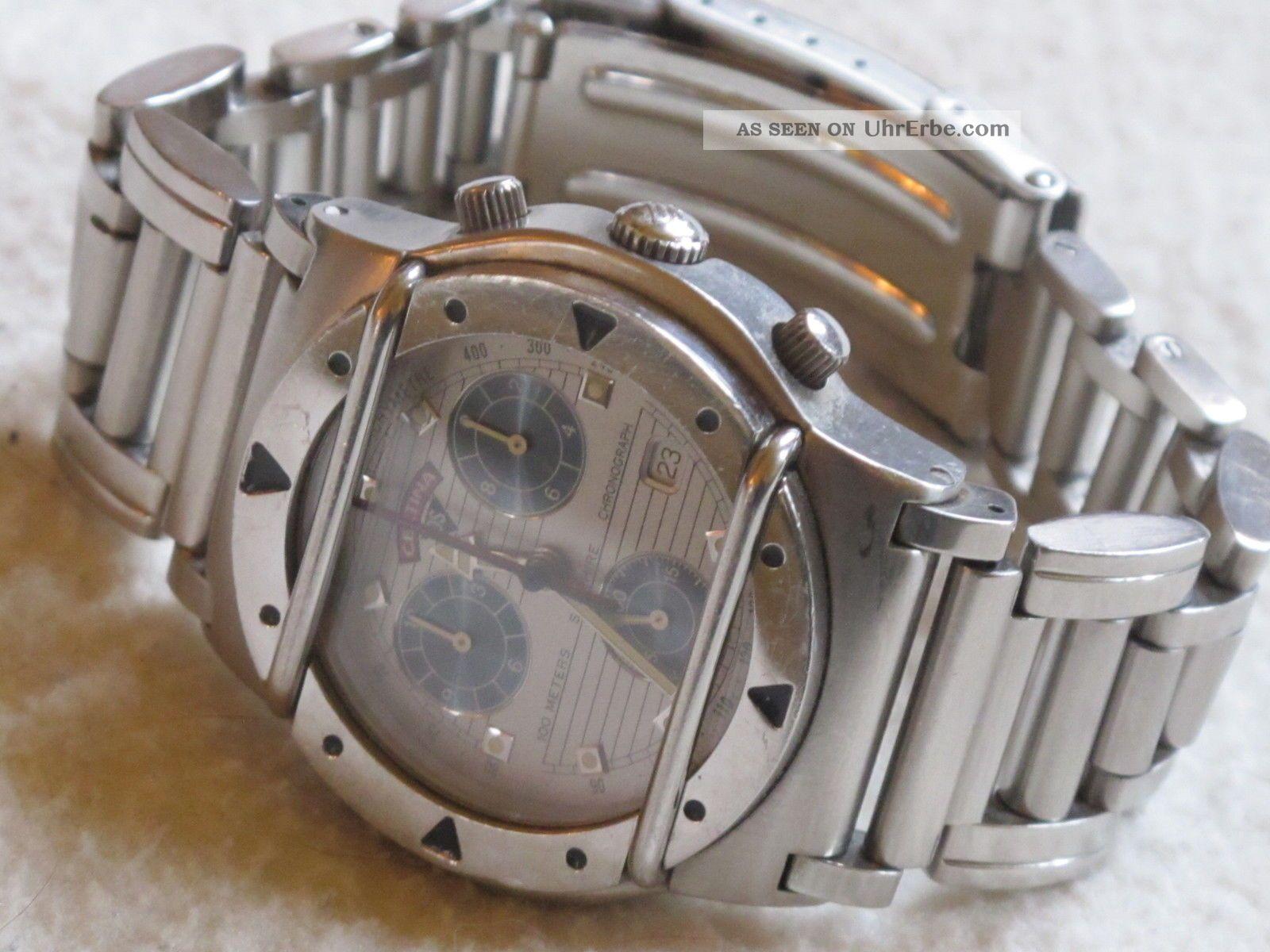 Certina Ds Cascadeur,  Chronograph,  Sehr Selten,  Retro Armbanduhren Bild