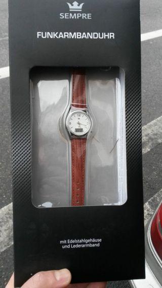 2 X Funkarmbanduhren Sempre Für Damen Funkuhr Armbanduhr Mit Lederarmband Bild