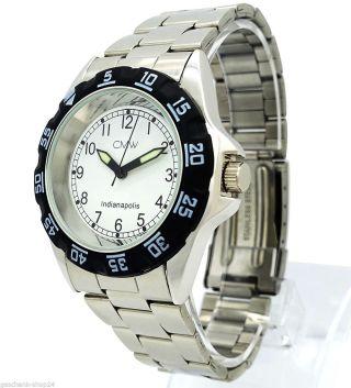 Herren Mechanisch Automatik Armband Uhr Mode Silber Edelstahl Sonderposten Bild