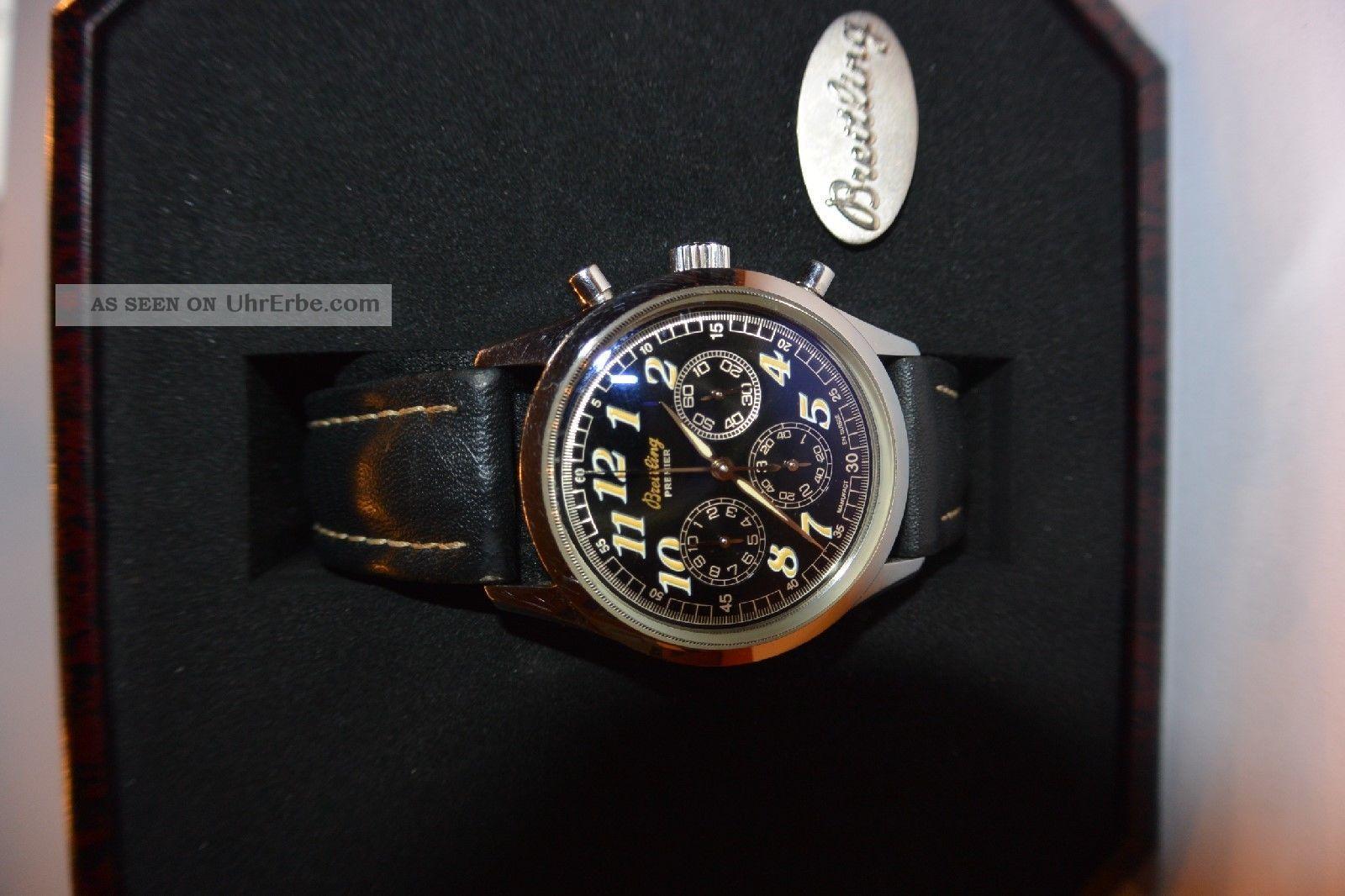 Breitling Uhr Chronograph Handaufzug Armbanduhren Bild