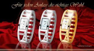 Spangenuhr Damenuhr Fame Armbanduhr Silber Gold Stahl Strass Spangetrend Uhr Top Bild