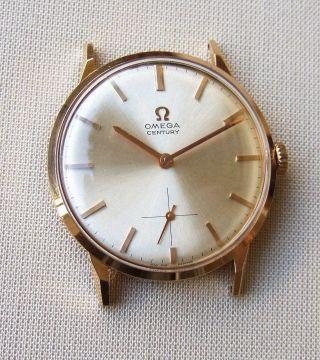 Omega Century Kal.  269 V.  1963 18k Gold Aus Sammlung - Und Unpoliert Bild