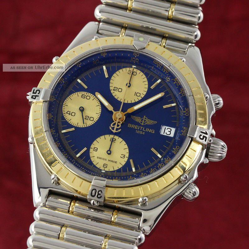 Breitling Chronomat Chronograph Gold /stahl Automatik D13048 Vp: 11380,  - E Armbanduhren Bild