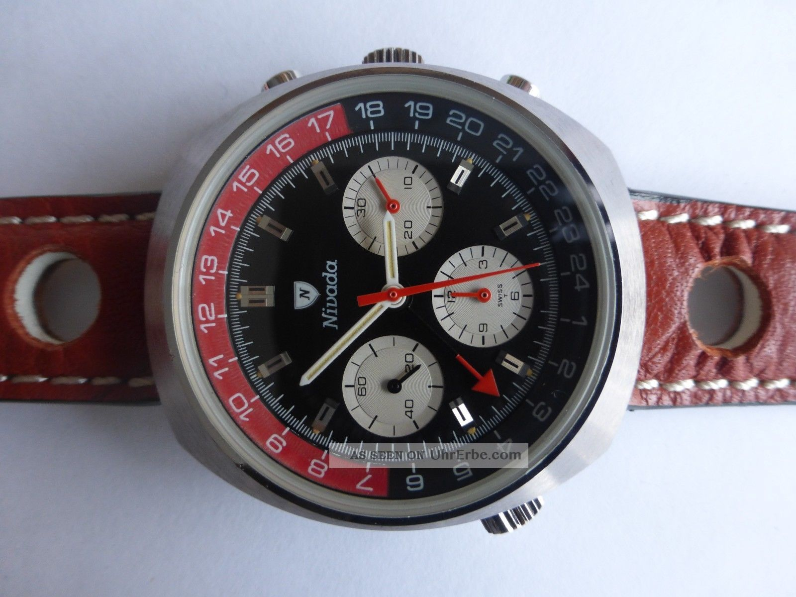 Nivada Chronograph Valjoux 724 Gmt Vintage Armbanduhren Bild