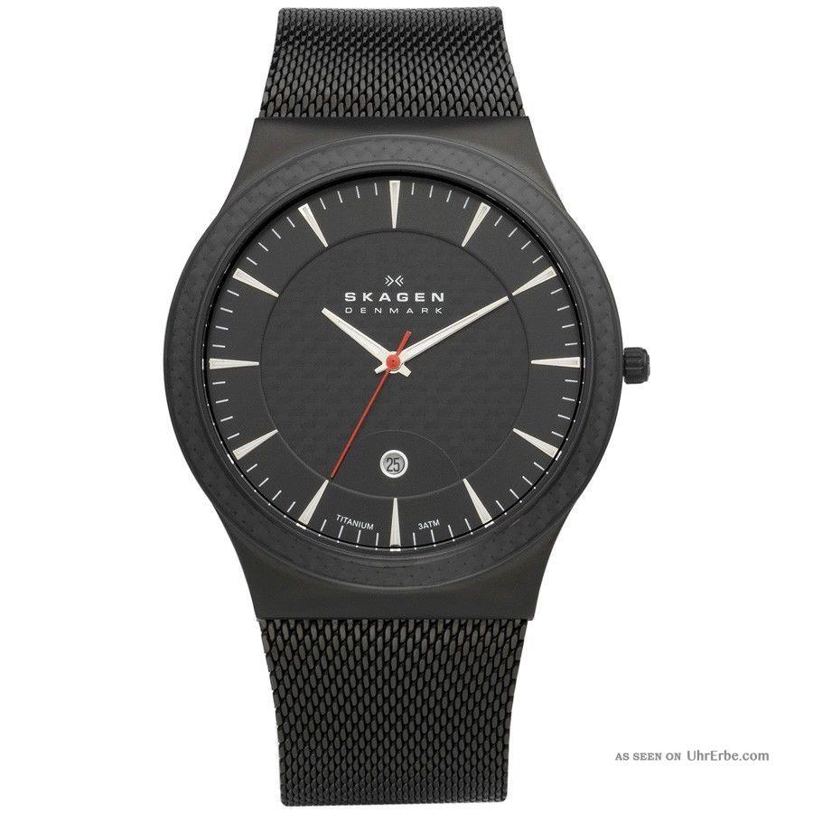 Skagen Denmark Watch Uhr Herrenuhr Titanium Case 234xxltb - Armbanduhren Bild