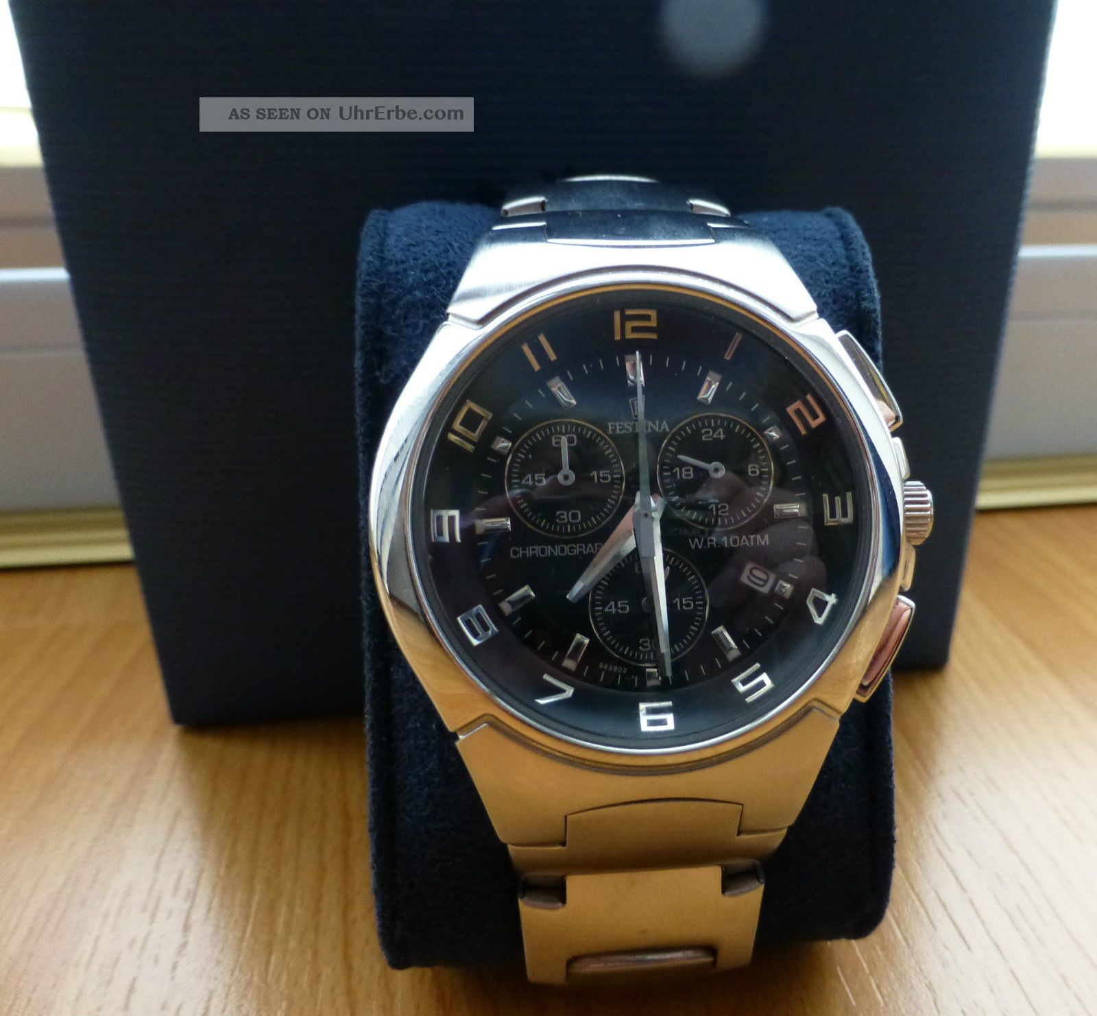 Festina Herren Edelstahl Uhr,  Ziffernblatt Chronograph F6698/2,  Herrenuhr Festina Armbanduhren Bild