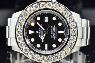 Herrenuhr Einzelanfertigung Rolex 46mm Sea Dweller Tiefsee Diamant Bild