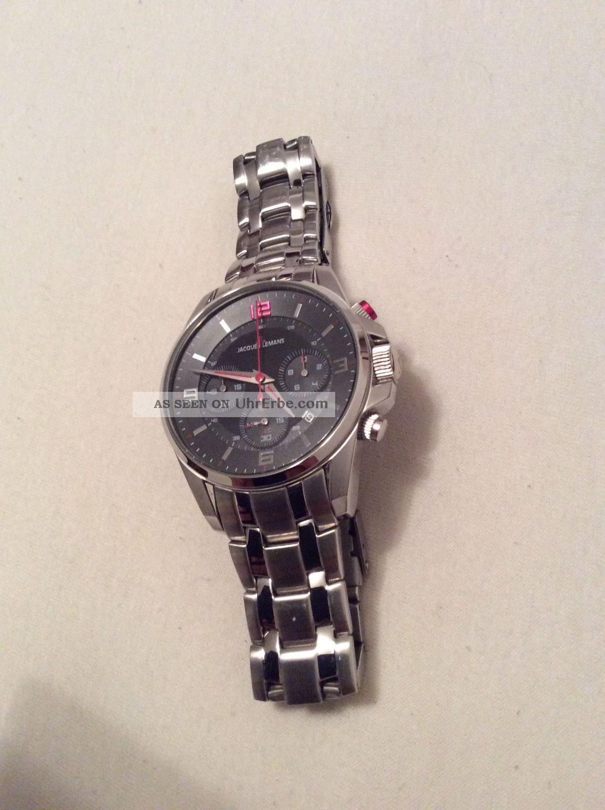 Jacques Lemans Herren - Armbanduhr Xl Liverpool Chronograph Quarz Edelstahl 1 - 167 Armbanduhren Bild