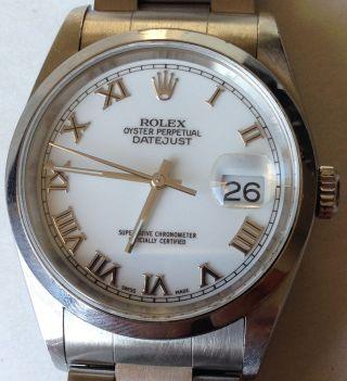 Rolex Oyster Perpetual Datejust 16200 Automatik Armbanduhr Aus 2002 Bild
