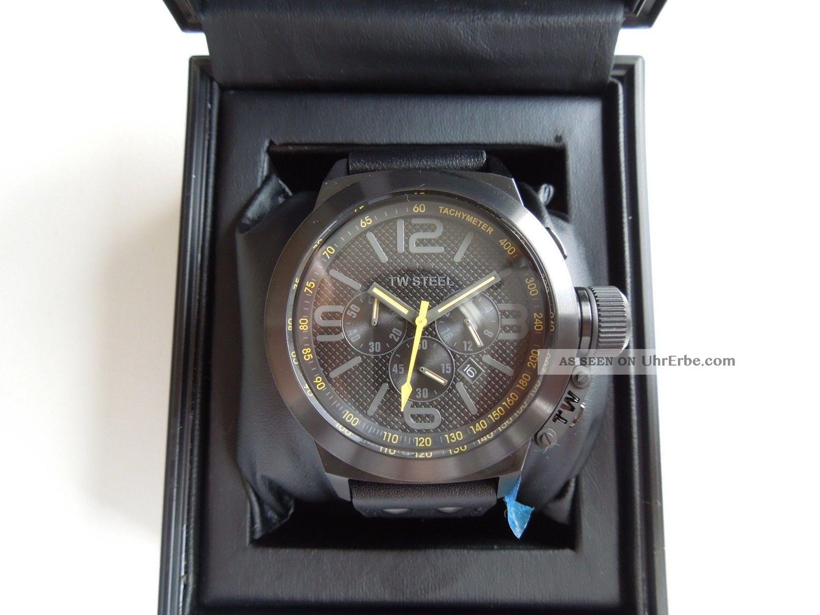Tw Steel Canteen Canteen Style Cool Black Tw - 900 Watch In Ovp Armbanduhren Bild
