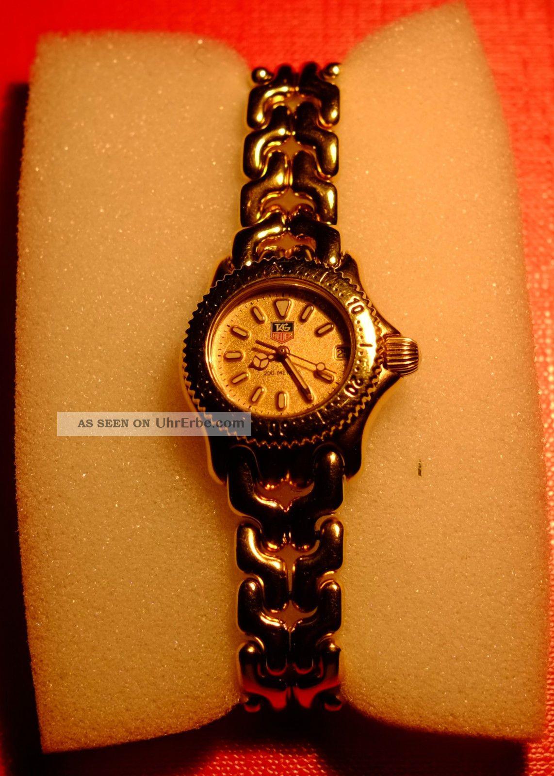Tag Heuer Damenuhr Vergoldet,  Mit Service Vom 16.  12.  2014,  Machen Sie Ein Angebot Armbanduhren Bild
