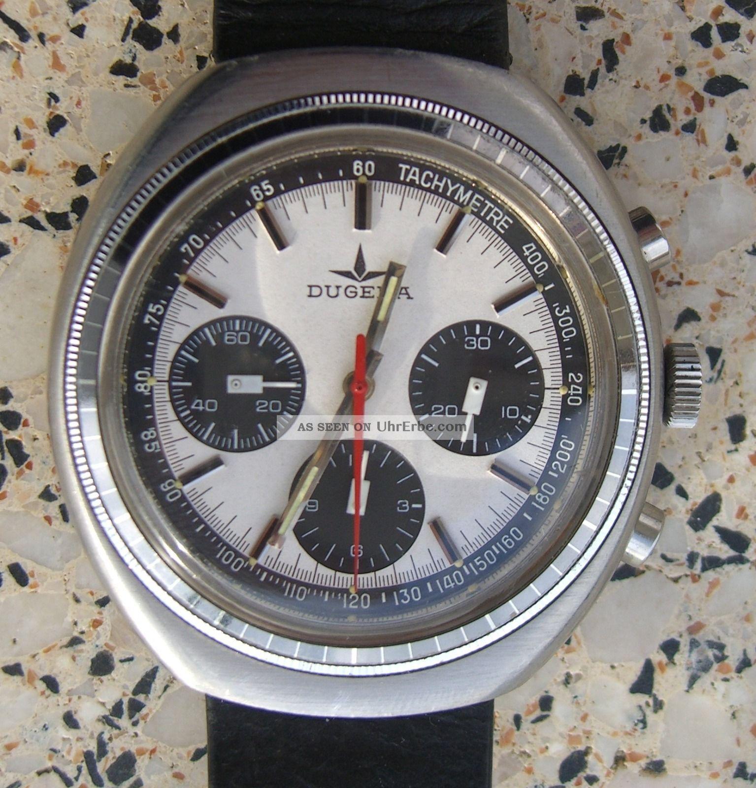 Dugena Vintage Chronograph Incabloc 14019 Waterresistant 5 Atu Armbanduhren Bild