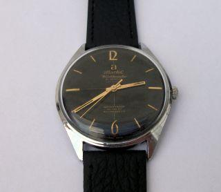 Atlantic Worldmaster 21 Jewels Kal.  6300n Wehrmachtswerk Herrenuhr Uhr Bild