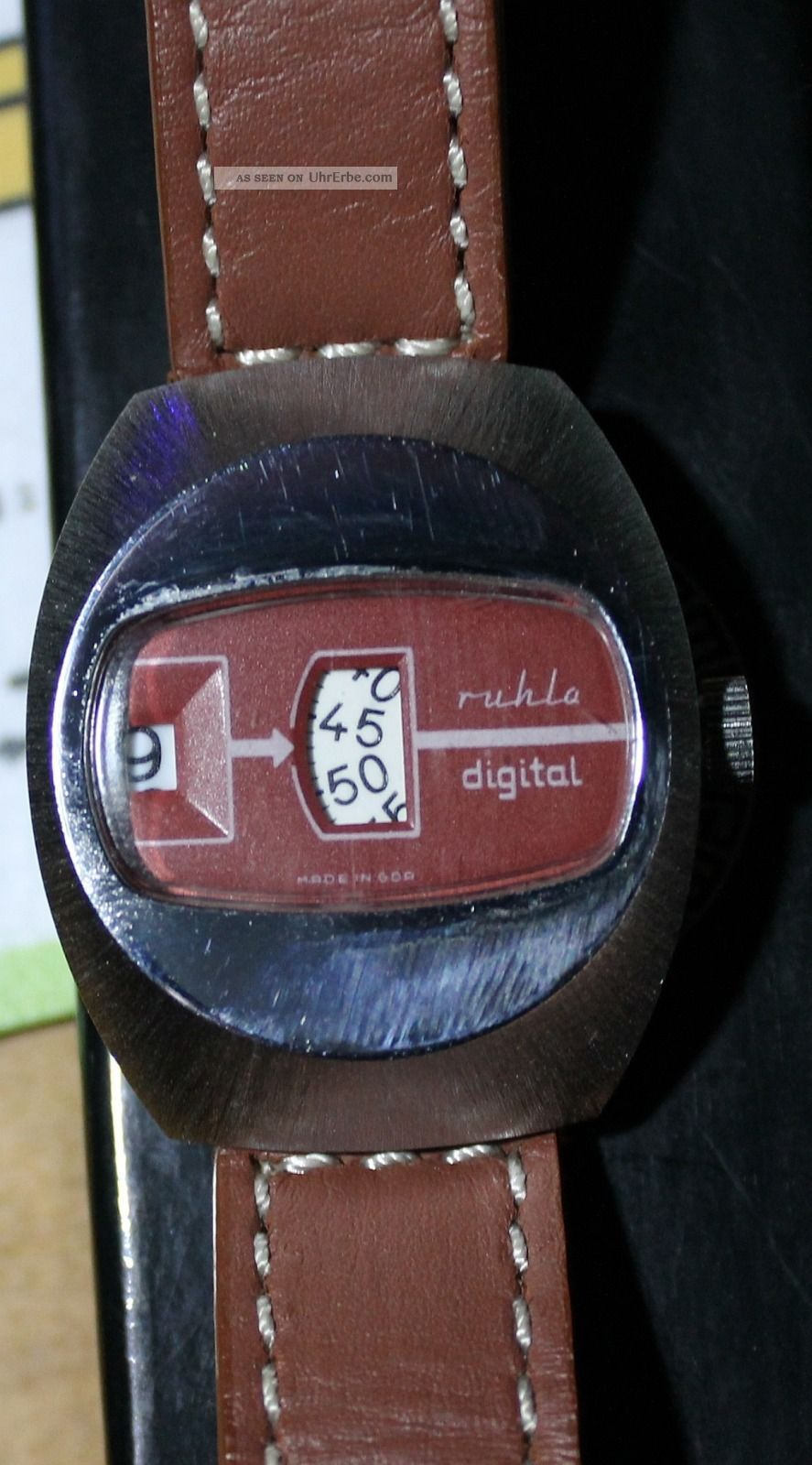 Ruhla Digitaluhr,  Scheibenuhr Made In Ddr - Ansehen Armbanduhren Bild