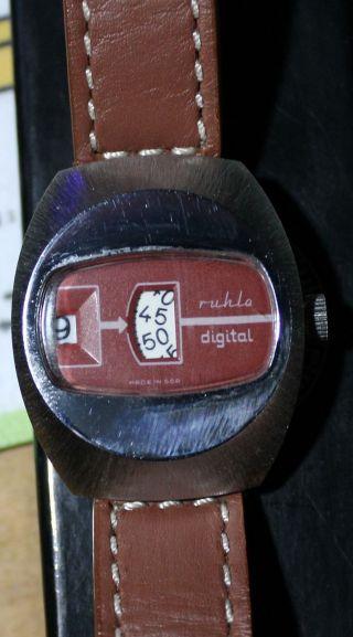 Ruhla Digitaluhr,  Scheibenuhr Made In Ddr - Ansehen Bild