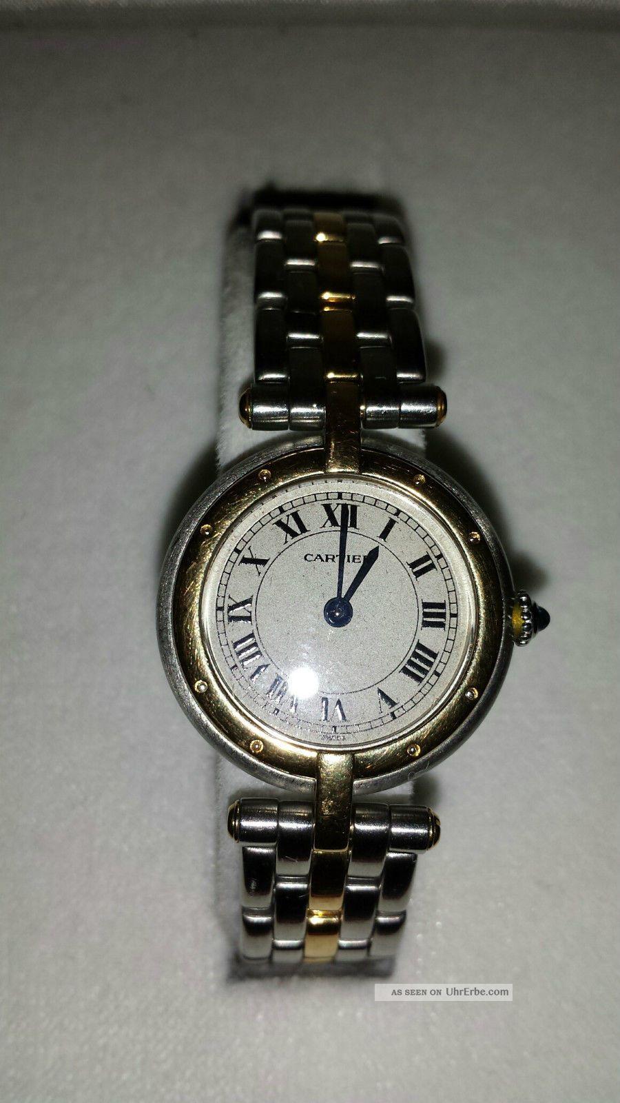 Orginal Cartier Panthere Ronde Quarz Armbanduhren Bild
