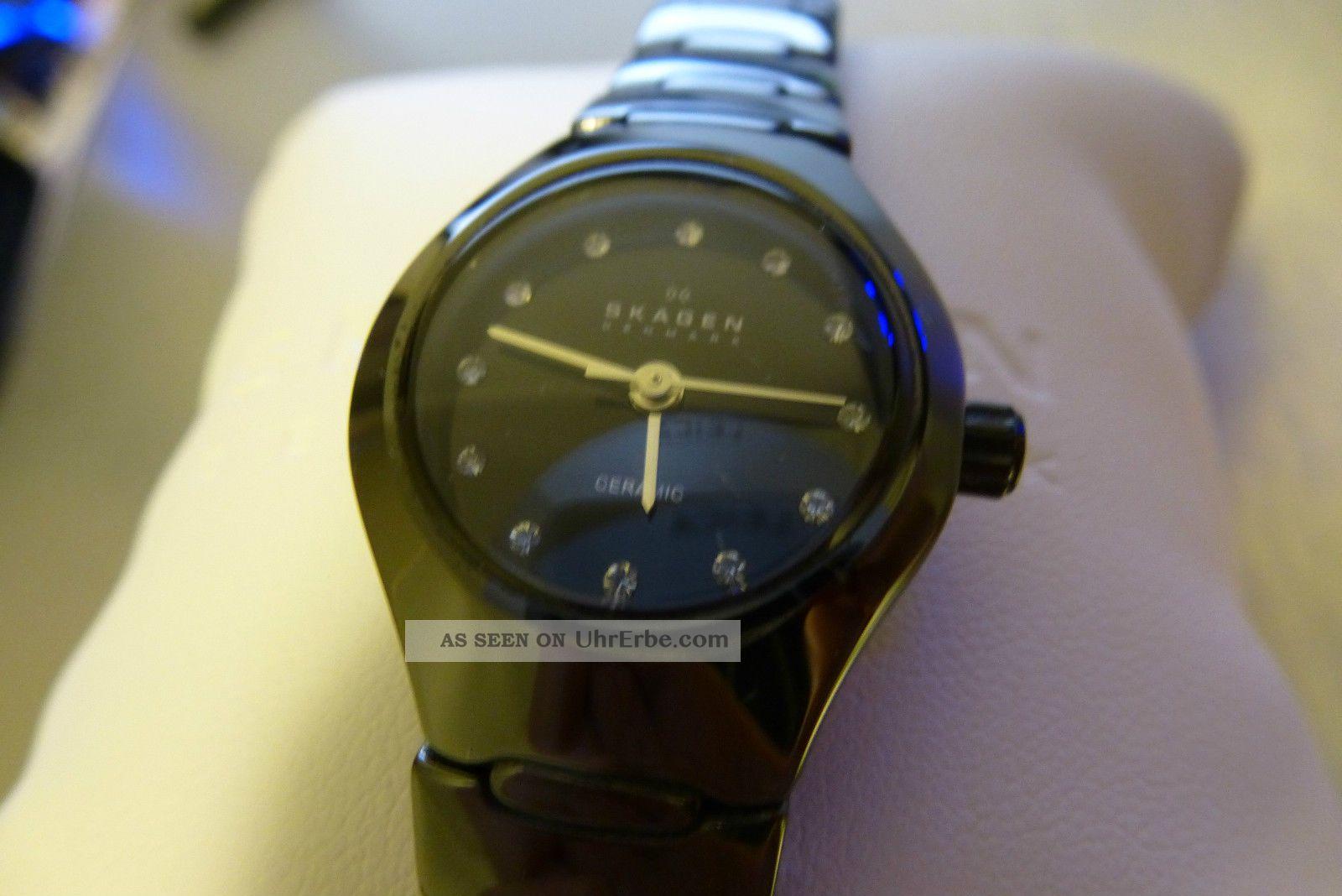 Skagen 816 Xsbxc1 Damenuhr 816xsbxc1 Keramik Armband Armbanduhren Bild