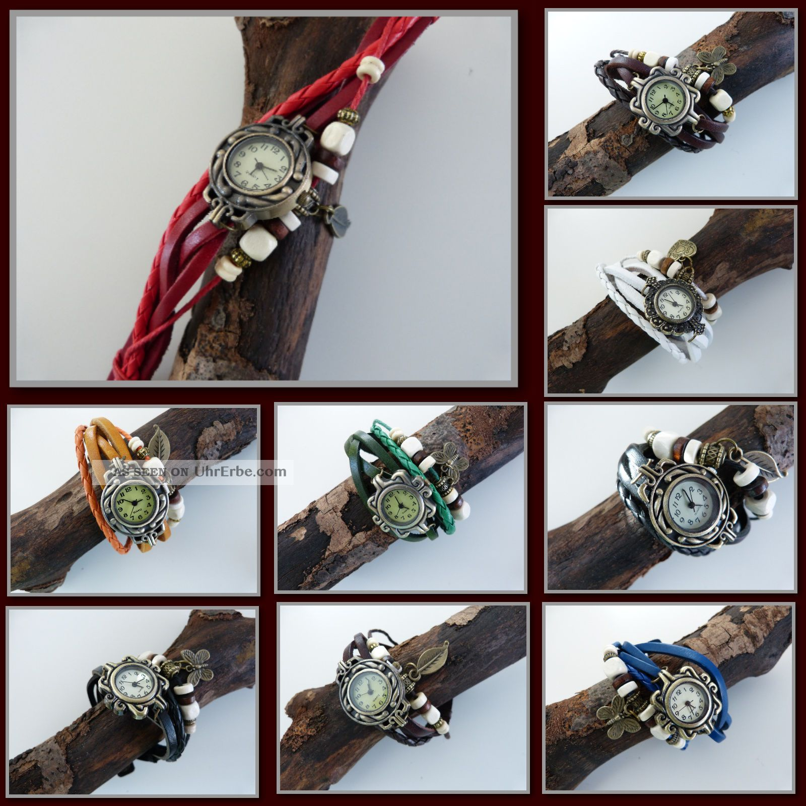 Wickeluhr Damenarmbanduhr Vintage Uhr Armbanduhr Damenuhr Lederarmband Armbanduhren Bild