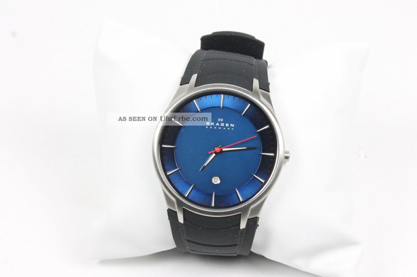 Skagen 955xlsrn Herrenuhr Mit Kautschukband /neu/ V.  Händler Armbanduhren Bild