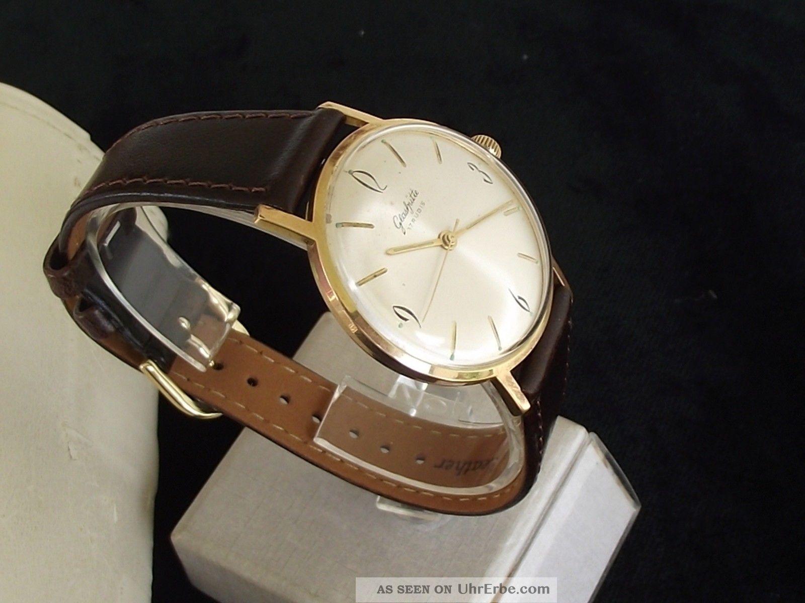 Große,  Edle Sonnenschliff Gub GlashÜtte Kal.  70.  1 Herrenarmbanduhr Armbanduhren Bild