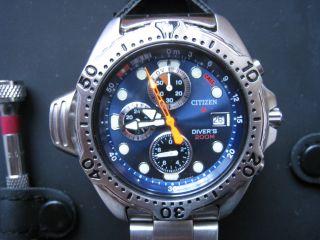Citizen Promaster Aqualand Ay5000 - 05m Herren Chrono Bis 200m - Wie Bild