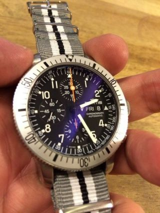 Fortis Cosmonauts Chronograph B42 Saphir Glas Edelstahl Uhr Mit Sinn Automatic Bild