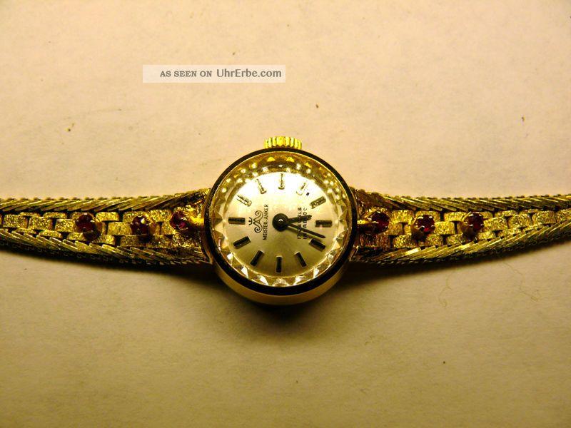 Armbanduhr F.  Damen,  Meisteranker,  Massiv Silber,  Vergoldet Armbanduhren Bild