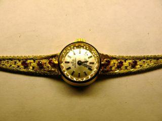 Armbanduhr F.  Damen,  Meisteranker,  Massiv Silber,  Vergoldet Bild