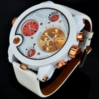 Mega Xxxxl Animoo Herrenuhr 3 Uhrwerke 3zeitzone Gehäuse Ca 58mm Bild