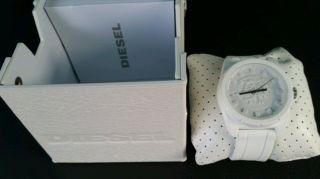 Diesel Dz 1590 Weiß Armband Herrenuhr Dz1590 Ovp Bild