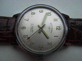 Herren Armbanduhr Rotary Swiss Handaufzug Mit Ovp Bild