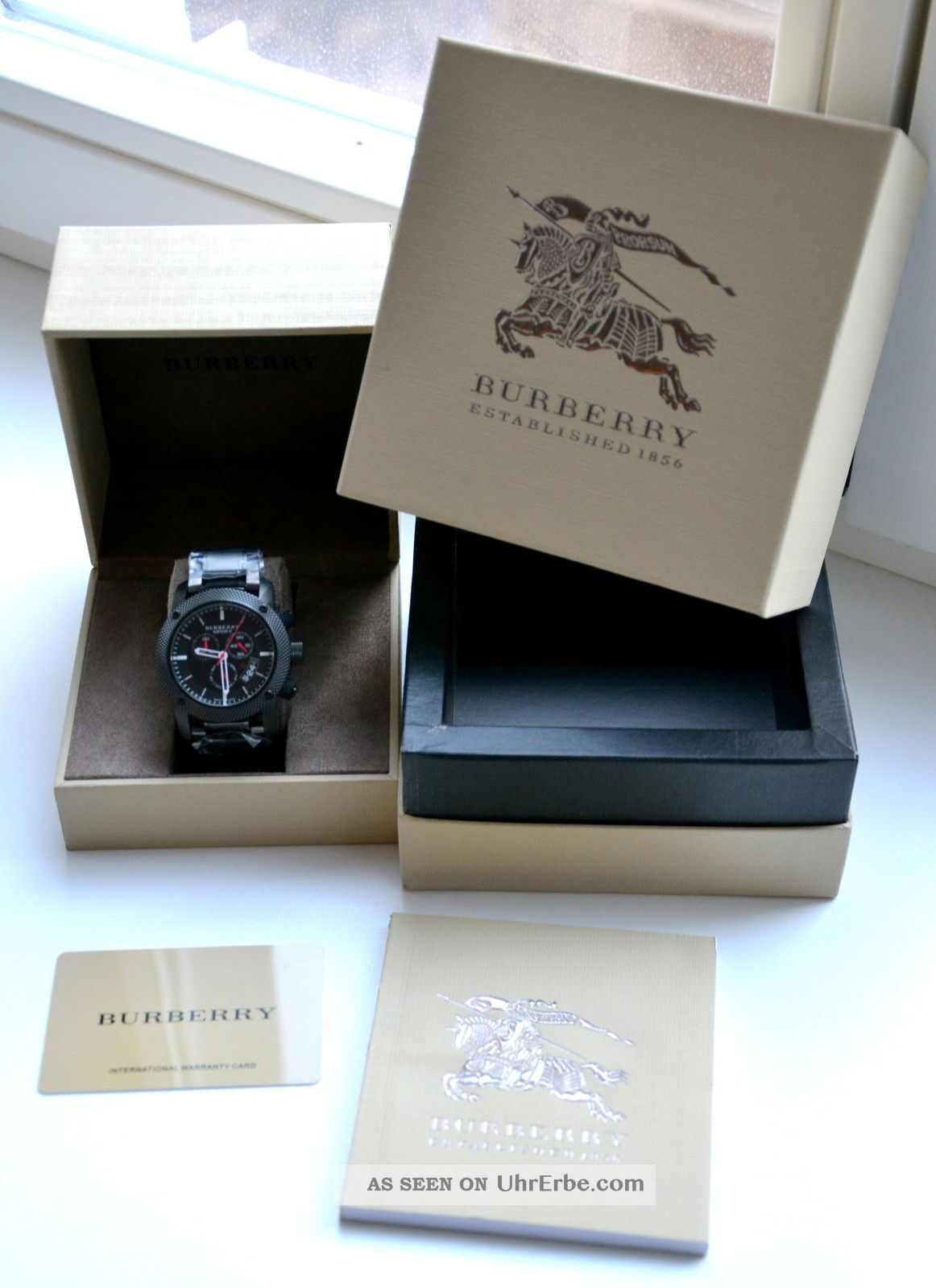 burberry herren sport uhr bu7703 endurance black chronograph. Black Bedroom Furniture Sets. Home Design Ideas