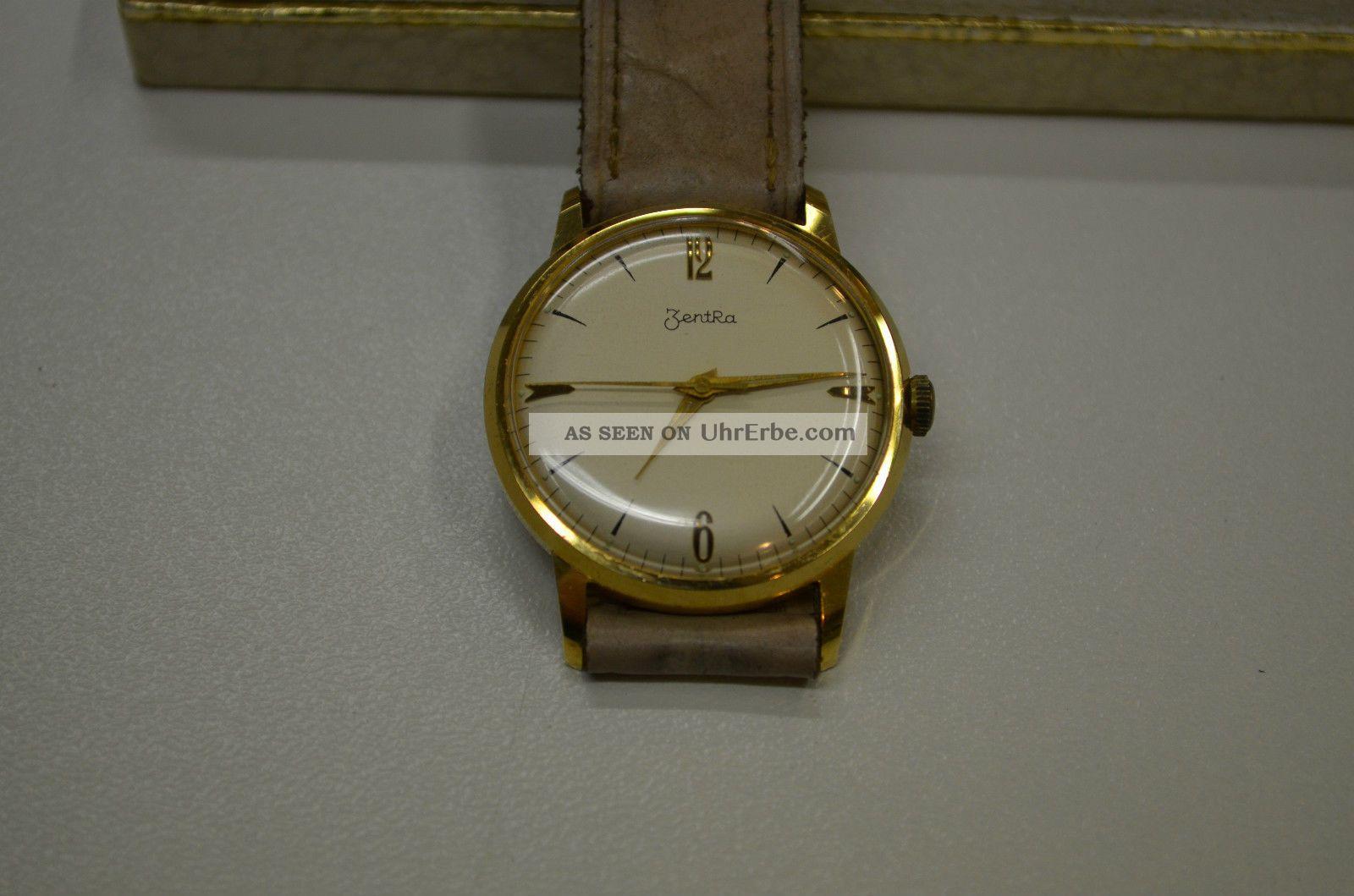 Zentra - Deutsche Vintage Handaufzugsuhr Der 60er Jahre Armbanduhren Bild