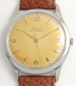 Doxa,  60 Jahre Alt Klassische Armbanduhr 37,  5 Mm Swiss Vintage Big Watch 1955 Bild