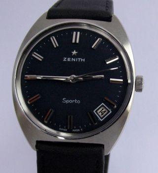 Hau Zenith Sporto,  Cal.  Zenith 2552 C,  Um 1970 Bild
