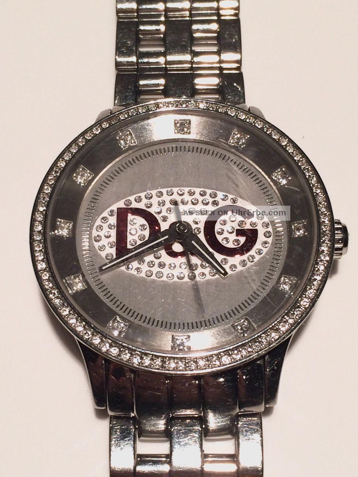 D&g Dolce Gabbana Unisex Uhr Watch Prime Time Big Silber Rot Ovp Armbanduhren Bild
