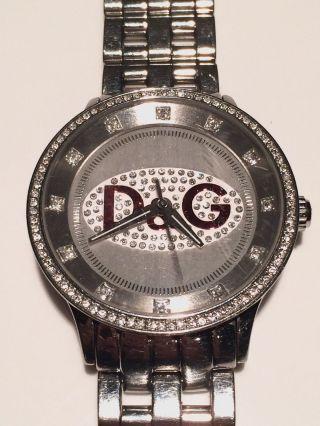 D&g Dolce Gabbana Unisex Uhr Watch Prime Time Big Silber Rot Ovp Bild