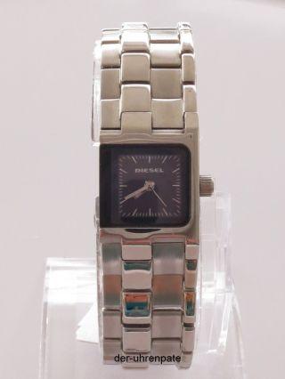 Diesel Damenuhr / Damen Uhr Edelstahl Schwarz Silber Dz5244 Bild