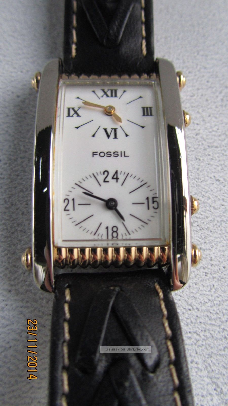 Fossil Vintage Dual Time Tm 6235 Dau