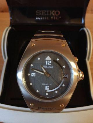 Seiko Kinetic 5m42 - 0e39 Armbanduhr Uhr 90er Jahre Bild